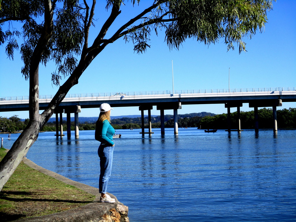 My Grand-daughter on the banks of the Maroochy River by 777margo