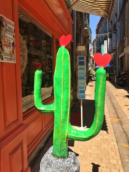 Cactus with three hearts.  by cocobella
