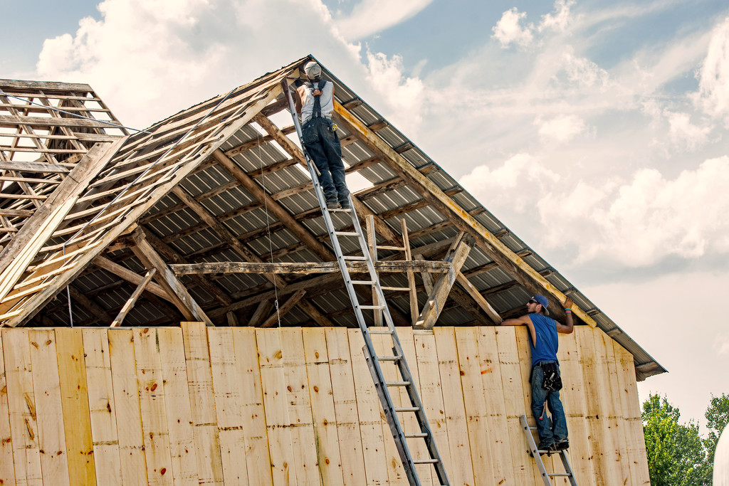 Hanging the Rafter by farmreporter