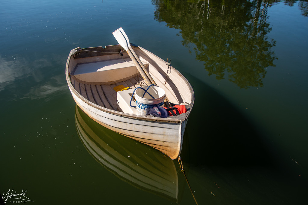 Dinghy reflections by yorkshirekiwi
