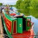 Colourful canal barge.