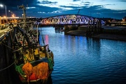 30th Jul 2018 - Ramsey Harbour & Swing Bridge... by Night!