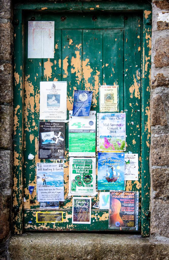 Rustic notice board by swillinbillyflynn