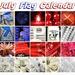 July Flag Calendar