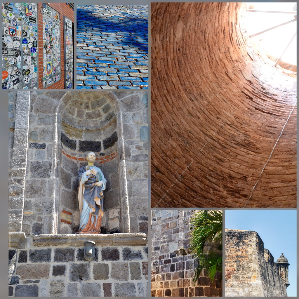 The bricks of San Juan, Puerto Rico  by louannwarren