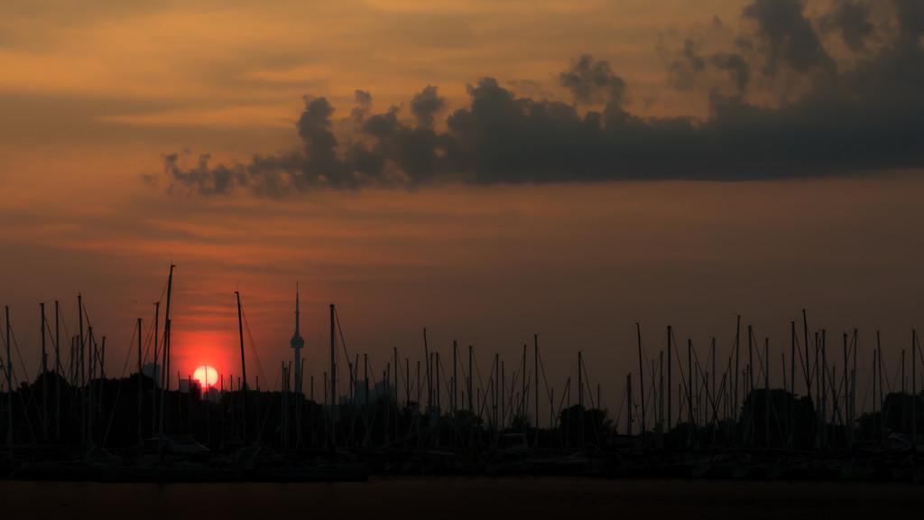 sunrise over boats by northy