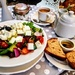 Greek salad at Selley's tea room
