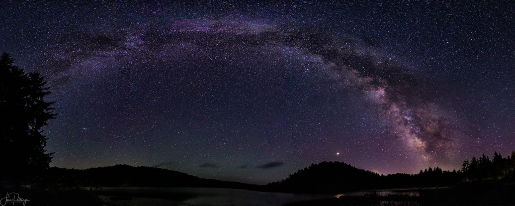Full Arch of Milky Way and Mars Pano by jgpittenger