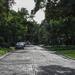 Brick-lined street