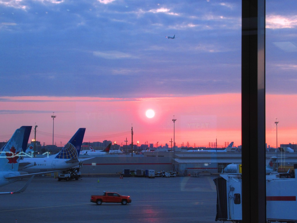 Early morning sunrise at the airport by bruni