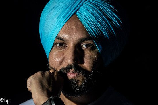 Sikh with a turquoise turban by caterina
