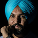Sikh with a turquoise turban