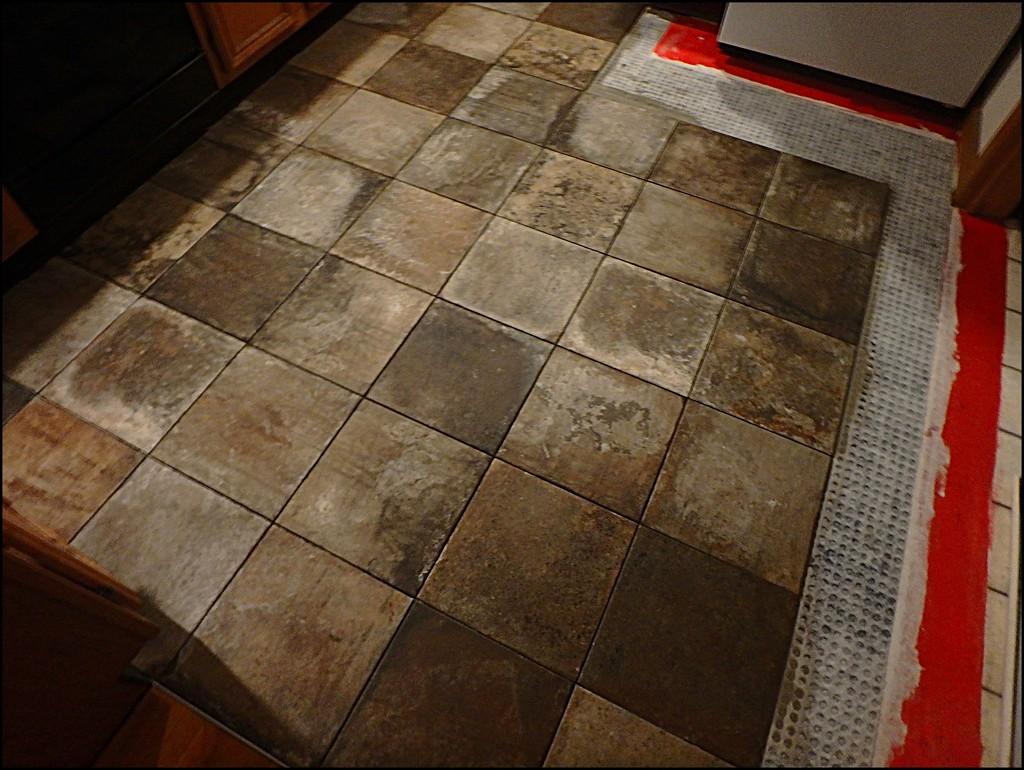 New Kitchen Floor! by olivetreeann