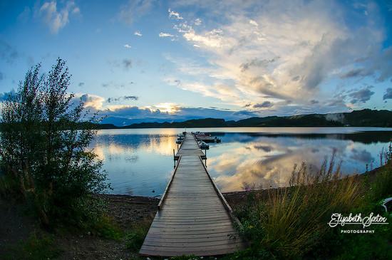 Evening at Svorksjøen photographed with fisheye 2 by elisasaeter