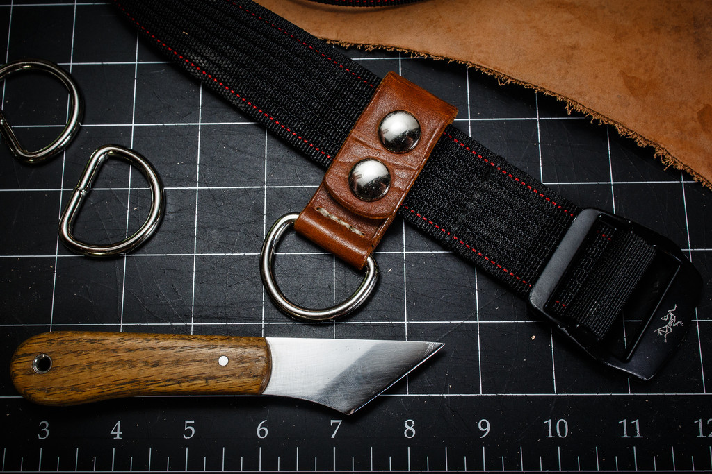 Leather work, and knife. by batfish