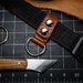 Leather work, and knife.