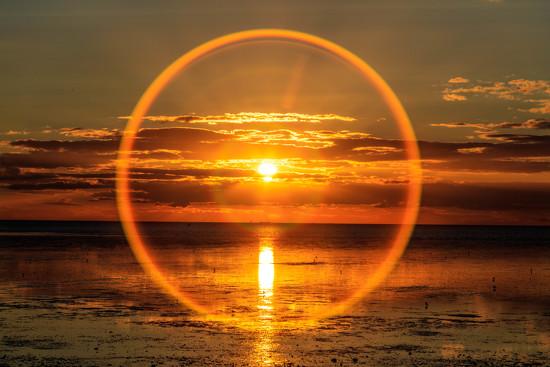 Sun ring Snettisham by padlock