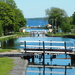 Foot bridges in the Gota Canal Lock system