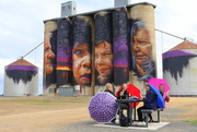 20th Aug 2018 - The Brolly Girls at Sheep Hills on the Art Silo Trail