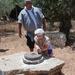 Kfar Kedem grinding wheat