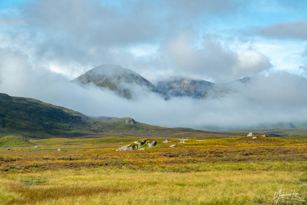 Glencoe in the clouds by yorkshirekiwi