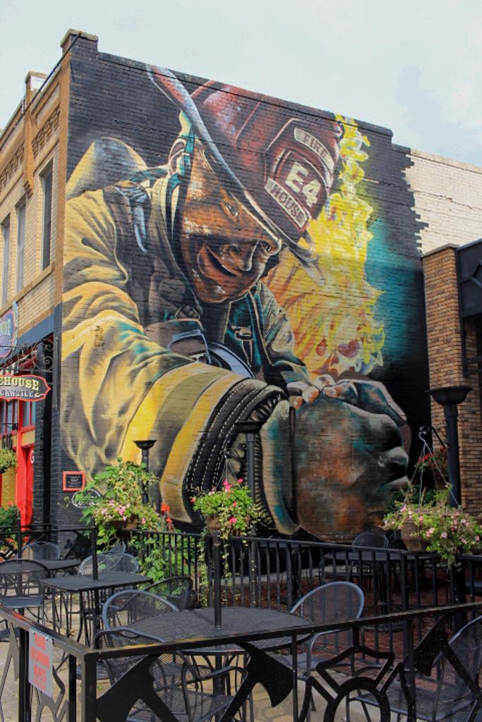 Fire House Mural by judyc57