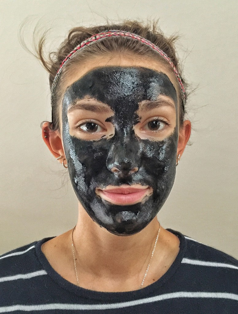 Charcoal mask.  by cocobella