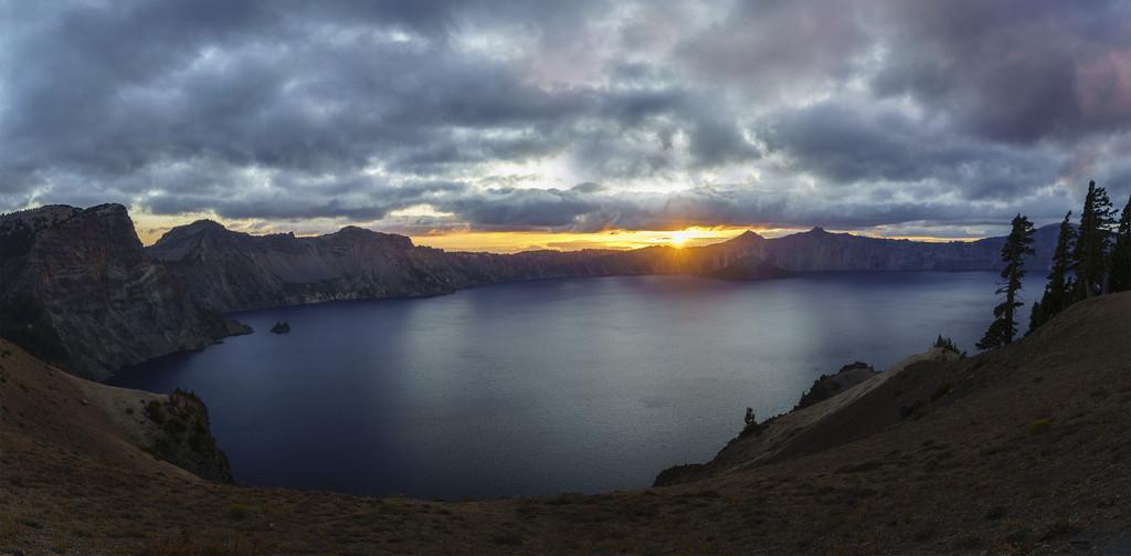 sunset pano  by jgpittenger