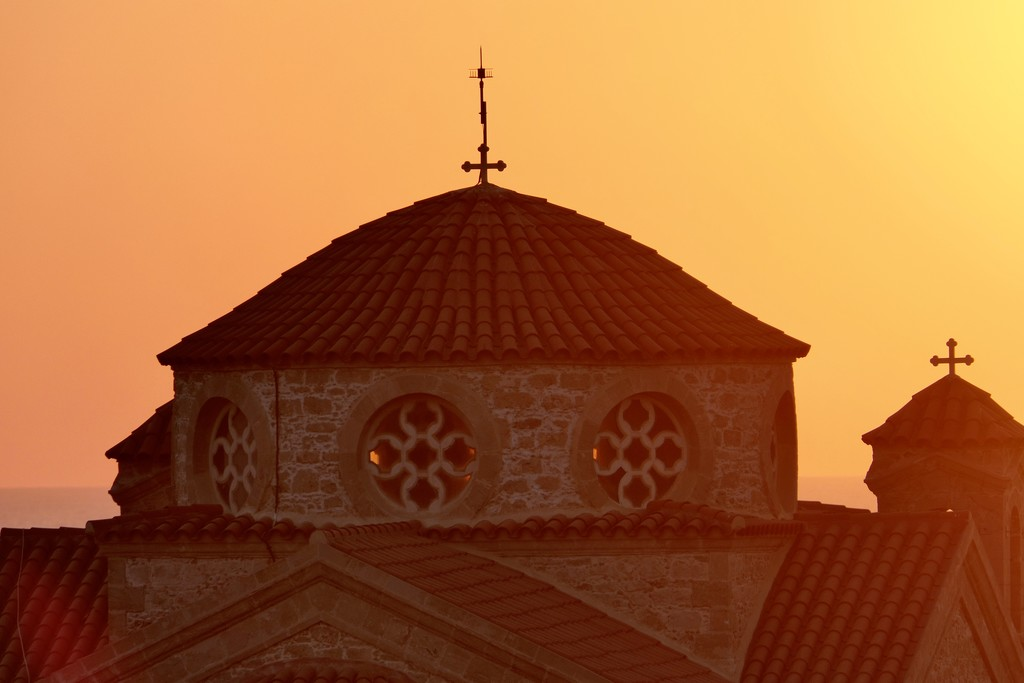 Ecclesiastical Sunset, Cyprus by carole_sandford