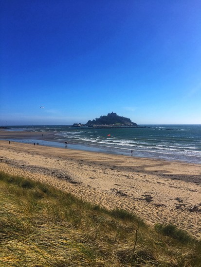 St Michael's Mount from Marazion Beach by angiedanielle24