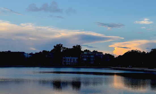 Colonial Lake, Charleston, SC, early evening by congaree