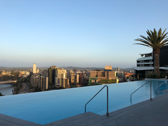 Infinity pool at the new Emporium hotel in Brisbane by hrs