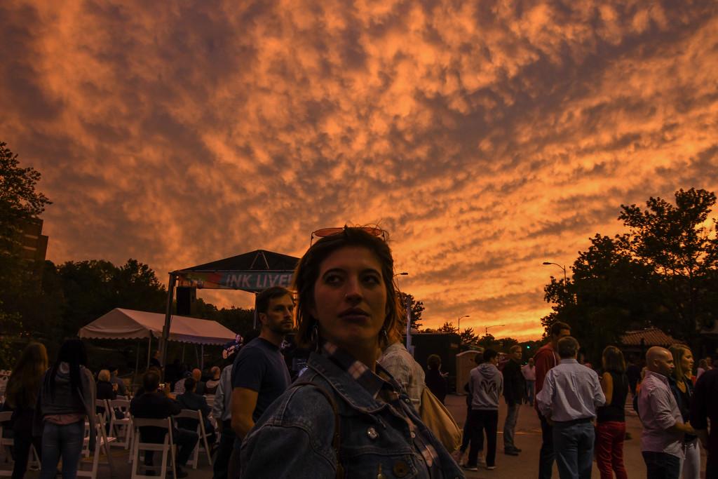 Sunset at the 2018 Plaza Art Fair in Kansas City  by kareenking