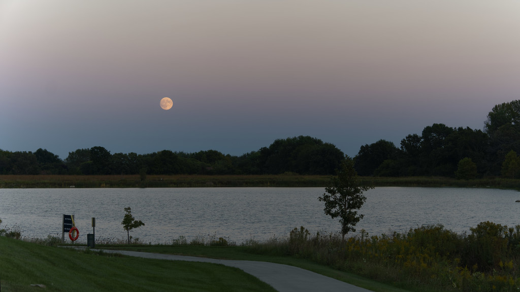 moonrise over the lake by rminer