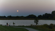 23rd Sep 2018 - moonrise over the lake