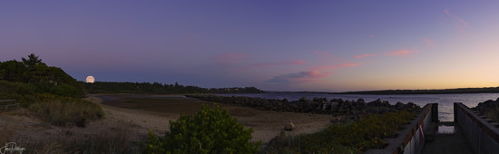 Dive Entry and Moonrise Pano  by jgpittenger