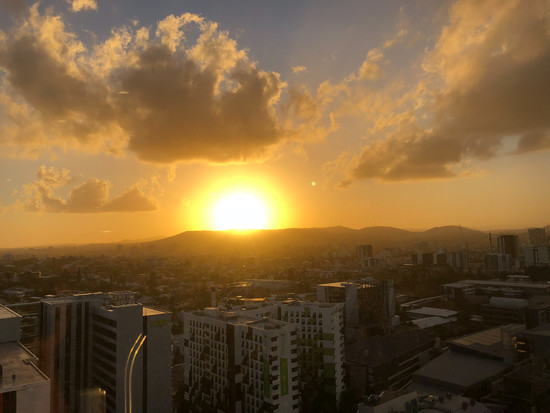 sunset Brisbane by hrs