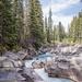 Winding river near Jasper Alberta