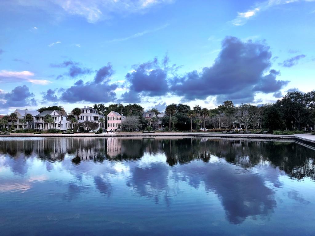Cloud reflections at Colonial Lake by congaree