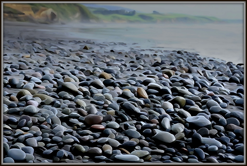 More Back Beach rocks by dide