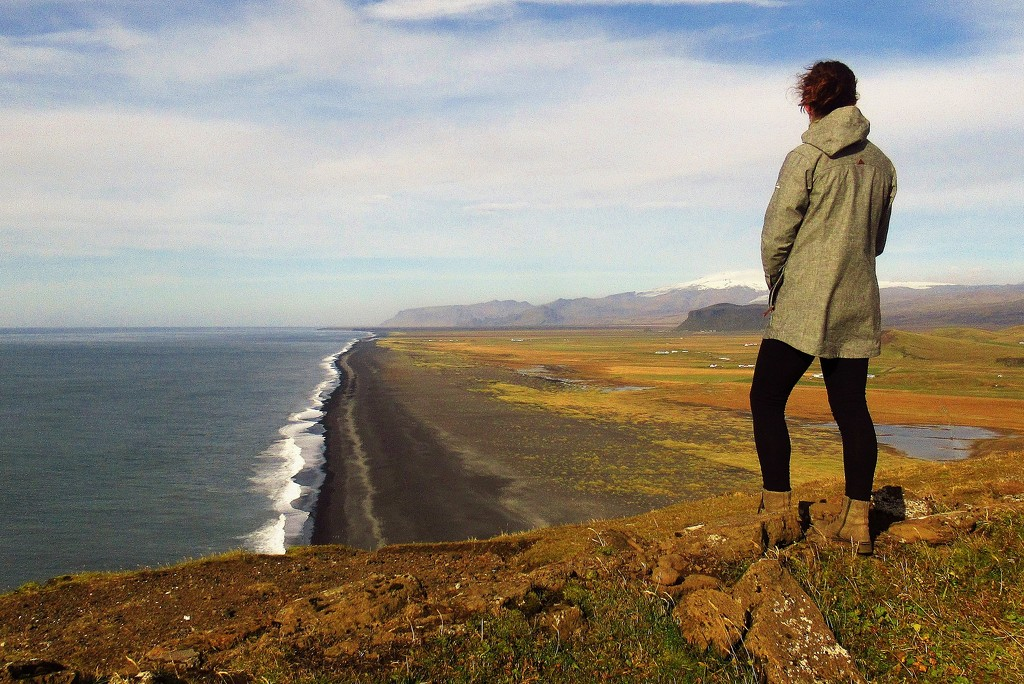 The black sand beaches from the headland near Vik by robz