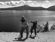 1st Oct 2018 - Taffy and Junko At Work Above Crater Lake