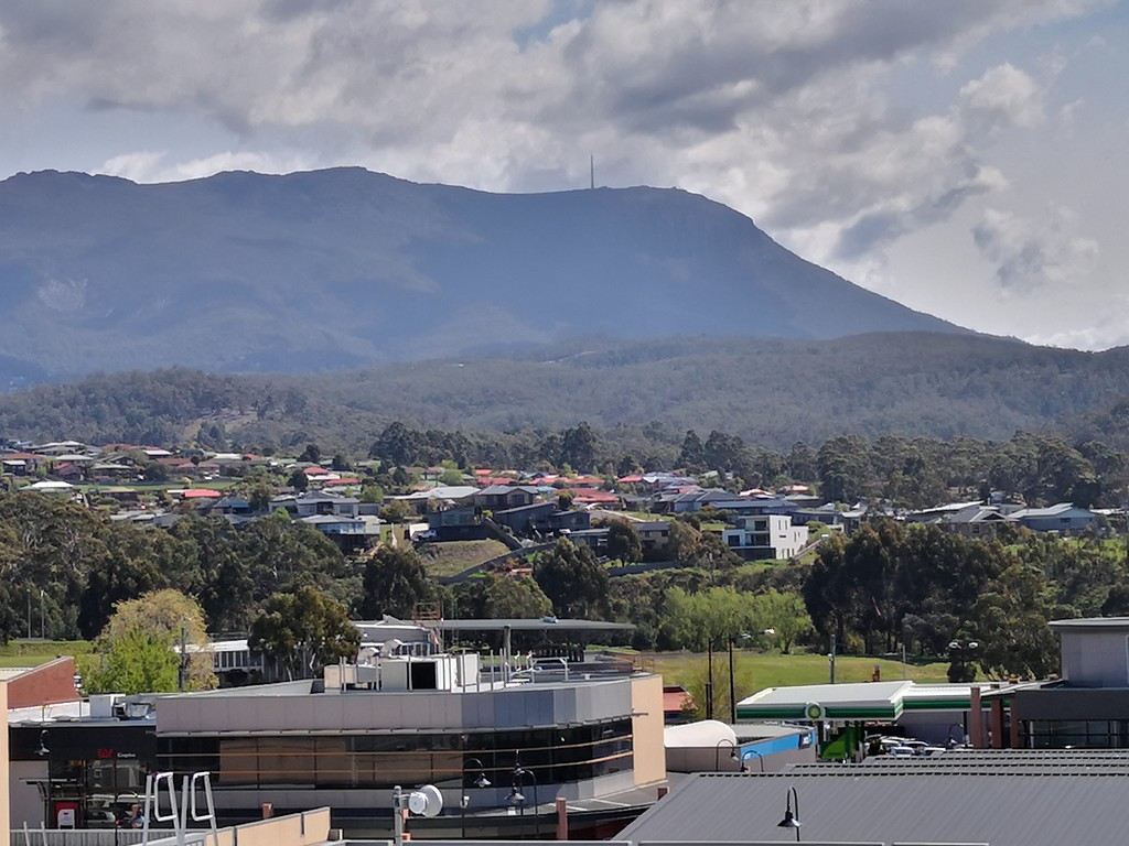 The view from Kingston towards Mt Wellington.  by kgolab