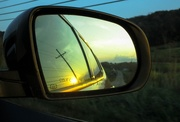 5th Oct 2018 - Side view mirror at sunset