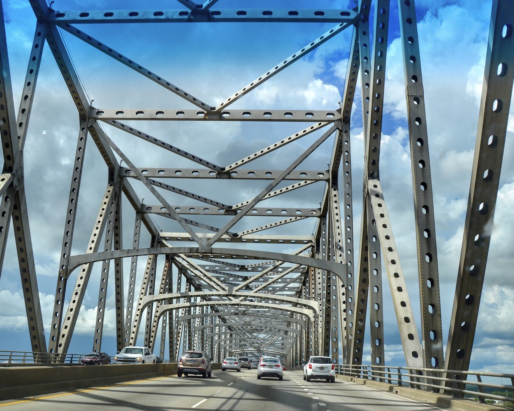 Crossing the mighty Mississippi River by louannwarren