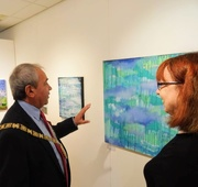 6th Oct 2018 - At the Opening event for our exhibition