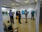5th Oct 2018 - Just finished putting up our art exhibition on the theme of Rhythm and Blues