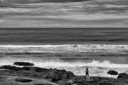 7th Oct 2018 - Fishing On the Edge B and W