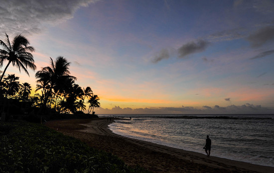 Poipu Beach Sunrise by loweygrace