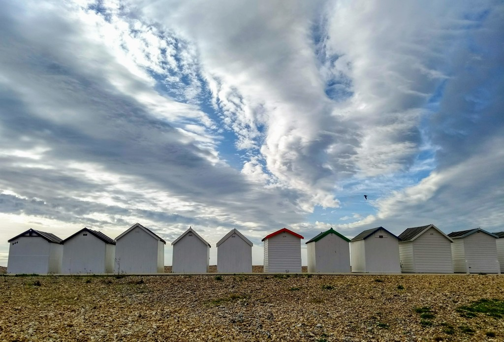 Beach Huts I by 4rky